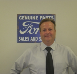 New Car Manager Tom Barber in Managers at Anderson Ford