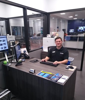 Express Service Advisor Adam Cloud in Service at Stivers Decatur Subaru