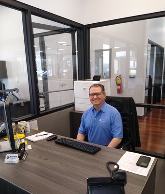 Service Advisor Anthony Pitillo in Service at Stivers Decatur Subaru