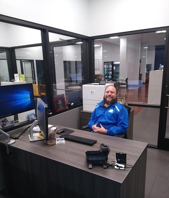 Assistant Service Manager Marc Carnet in Service at Stivers Decatur Subaru