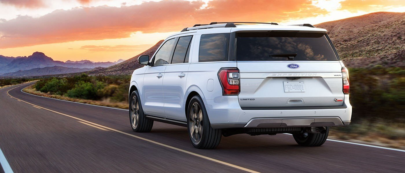 2021 Ford Expedition driving during sunset