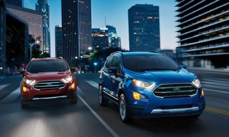 2021 Ford EcoSport exterior two driving head on side by side