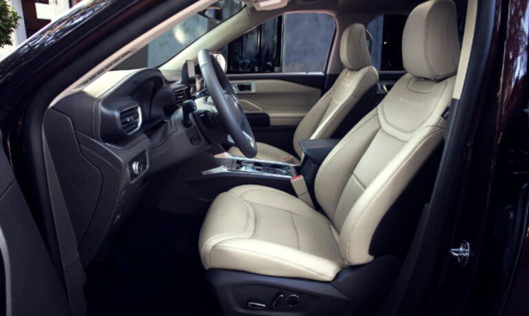 2021 Ford Explorer interior front seat - driver's side perspective