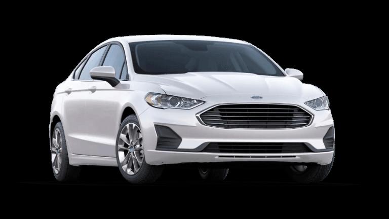 2020 White Ford Fusion SE