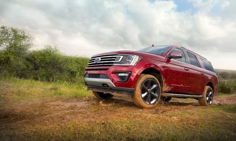 2021 Ford Expedition driving through mud