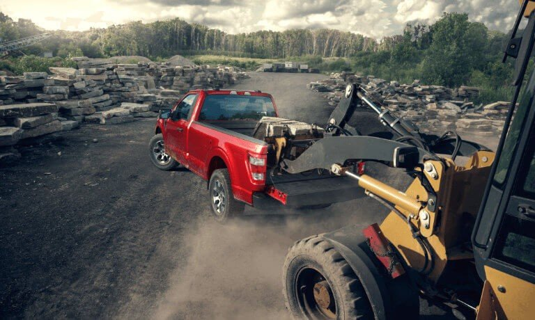 2021 Ford F150 Exterior Rocks Loaded Into Bed