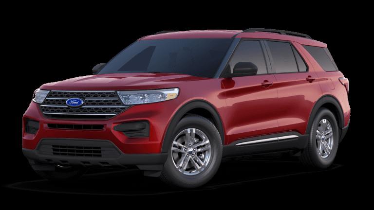 2020 Red Ford Explorer XLT