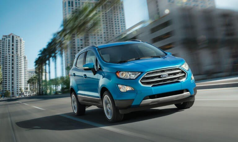 2021 Ford EcoSport exterior driving downtown