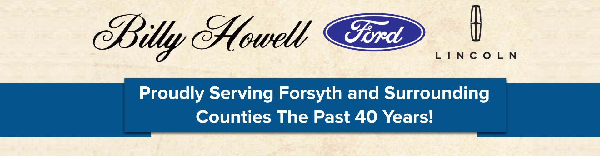 Billy Howell Ford for 40 Years