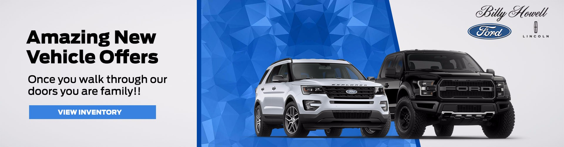 amazing new vehicle offers at Billy Howell Ford