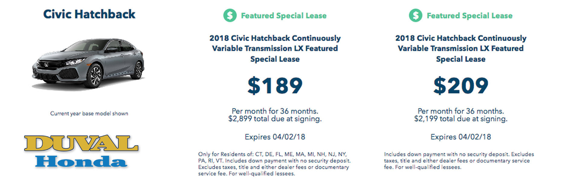 Civic Lease Banner