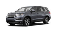 Honda pilot SUV with a third row of seating for your family