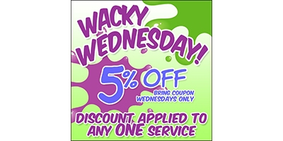 Coupon for Wacky Wednesday! 5% OFF