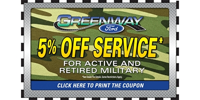Coupon for Military Special 5% OFF Service