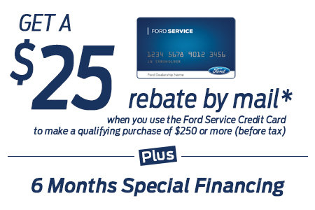 Coupon for Get a $25 Rebate by Mail* PLUS 6 MONTHS** SPECIAL FINANCING