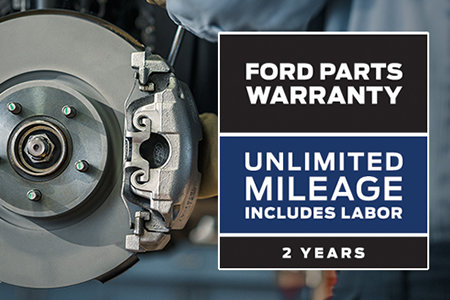 Coupon for Ford Parts Warranty: Two Years. Unlimited Mileage. Includes Labor*
