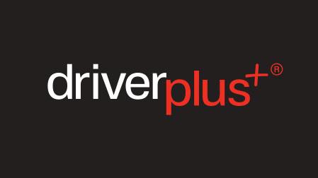 driver plus logo on black background
