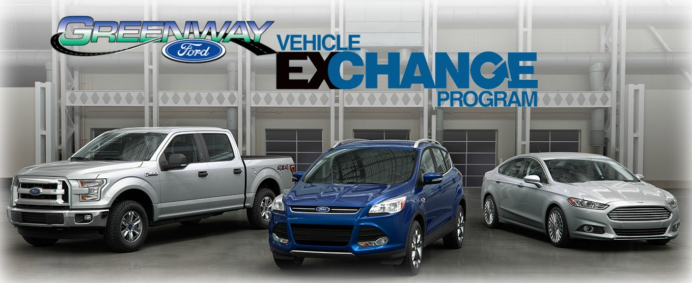 selection of some of the Ford vehicles you can trade in for at Greenway Ford
