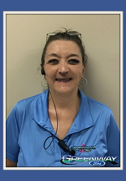Service Advisor Diana Hart in Service at Greenway Ford