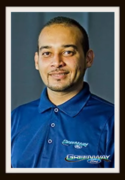 Internet Sales Consultant Juan Mangual in Internet Sales at Greenway Ford