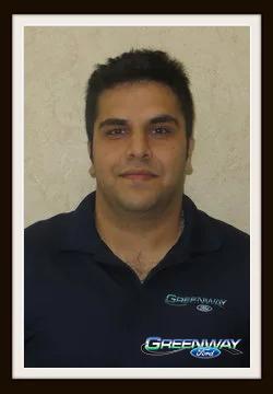 Internet Sales Consultant Matt Shamseddini in Internet Sales at Greenway Ford