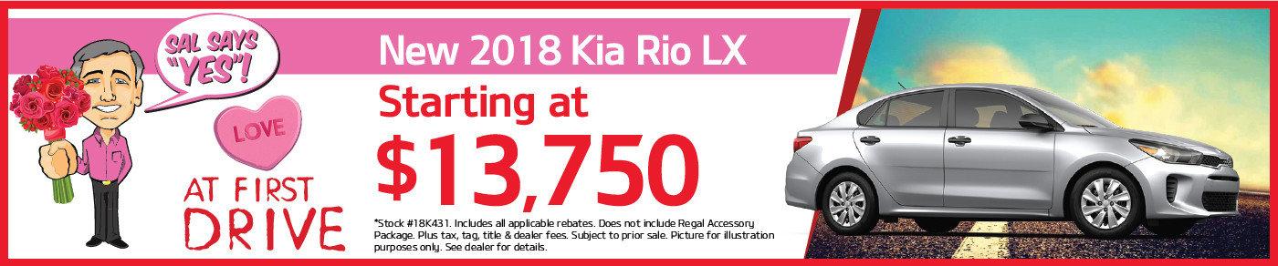 You'll LOVE the new 2018 Kia Rio!