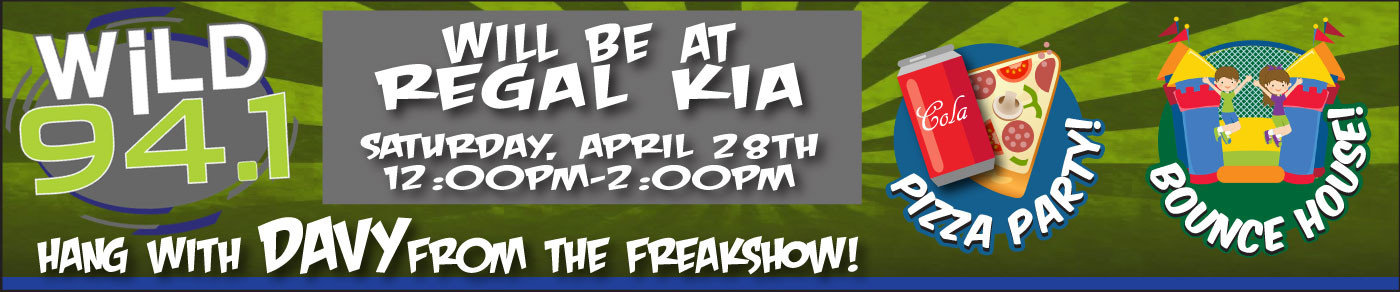 Come hang with Davy from The Freakshow Friday, April 28th from 12-2pm!