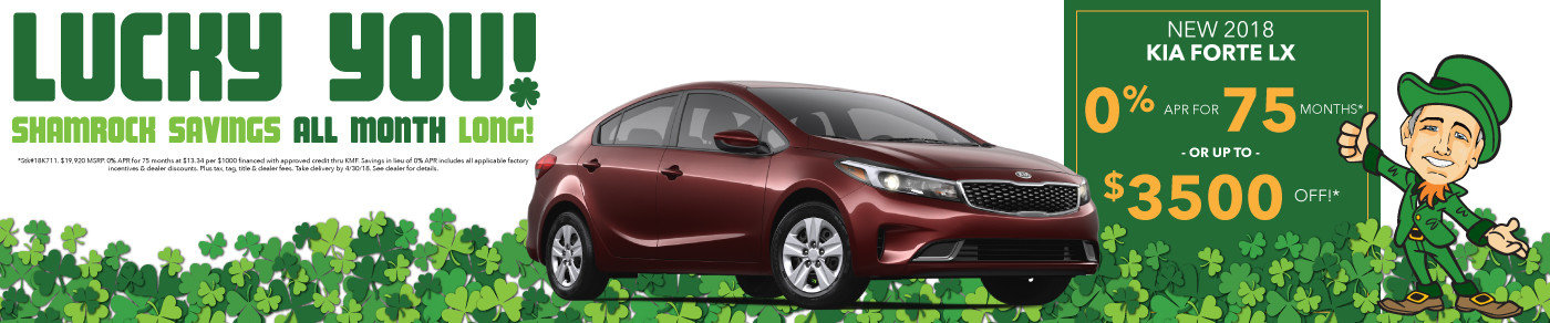 0% APR or up to $3500 off new 2018 Forte