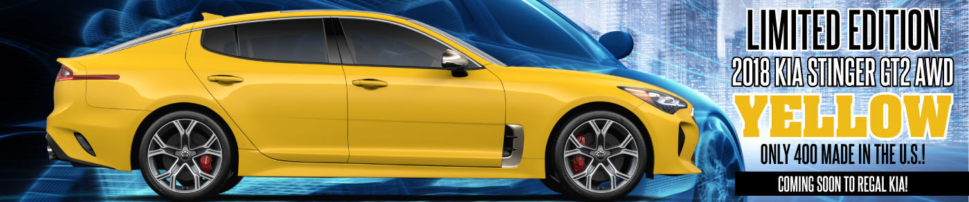 Limited Edition YELLOW Stinger Coming Soon to Regal Kia!