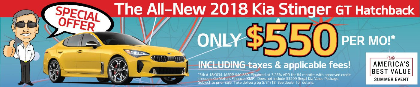 Special Offer on Stinger GT - Only $550 a month! And that INCLUDES taxes & fees!