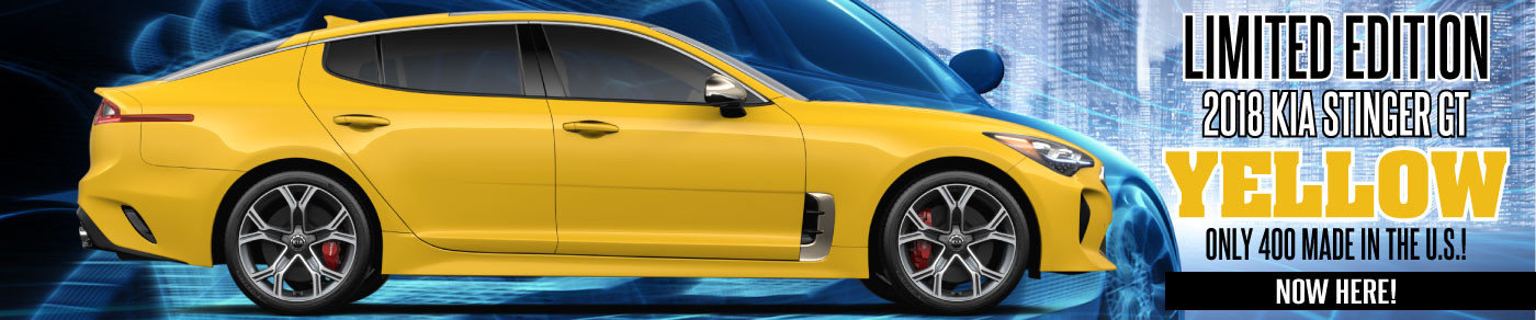Limited Edition YELLOW Stinger AVAILABLE NOW at Regal Kia!