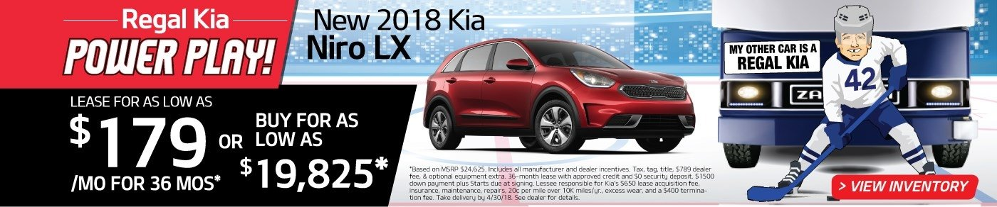 Drive a new 2018 Niro for just $179 a month! Or, buy for as low as $19,825!