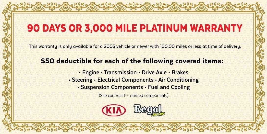 Regal Kia Certificate