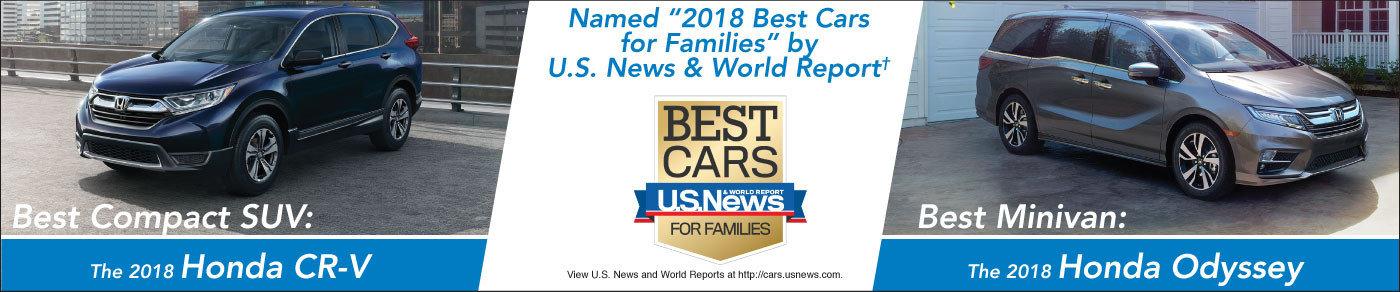 2018 Best Cars for Families:  Honda Odyssey & CR-V!
