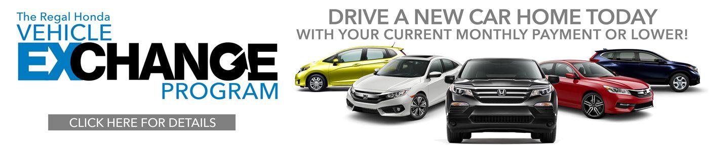 Vehicle exchange program at Regal Honda