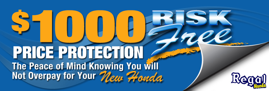 Regal Honda risk free price protection offer
