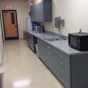 sink area and microwave that you can use in the community room