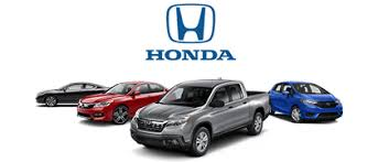 honda logo with 4 honda vehicles listed below