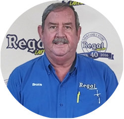 Service Lane Manager Bruce Knowles in Service Center at Regal Honda