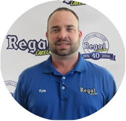 Service Advisor Kyle Cook in Service Center at Regal Honda