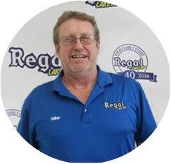 Service Advisor Mike Bristow in Service Center at Regal Honda