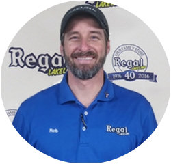 Service Advisor Rob  Young in Service Center at Regal Honda