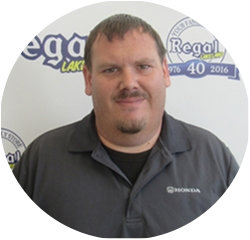 Parts Specialist Paul Hileman in Parts and Accessories at Regal Honda
