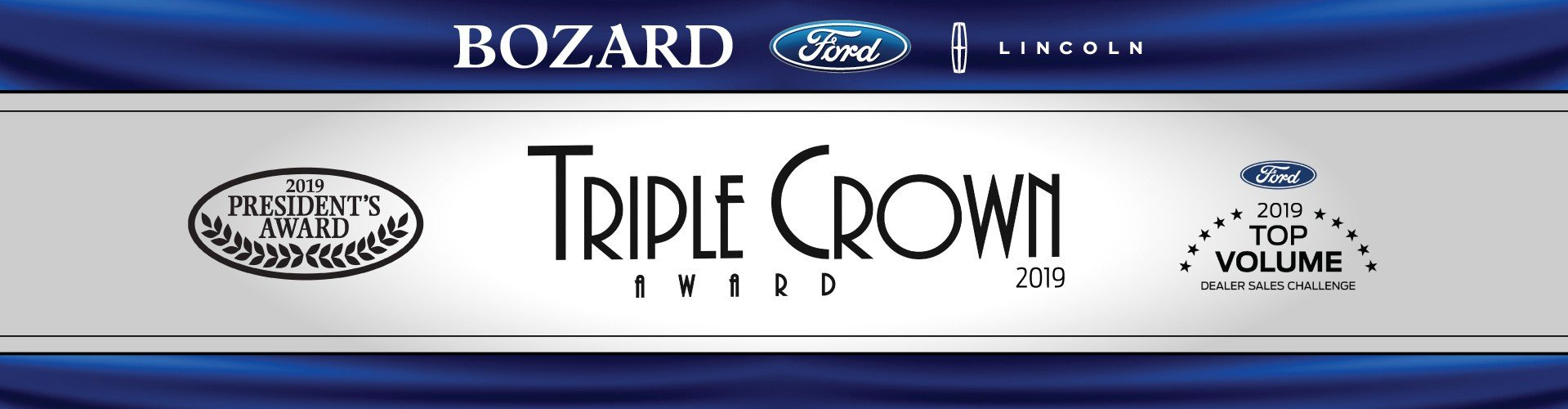 Bozard Received Ford's Triple Crown Award for 2019