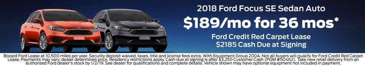 Ford Focus Lease Offer