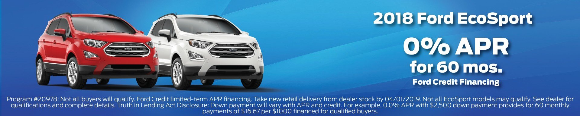 2018 Ford EcoSport Offer 3-2019