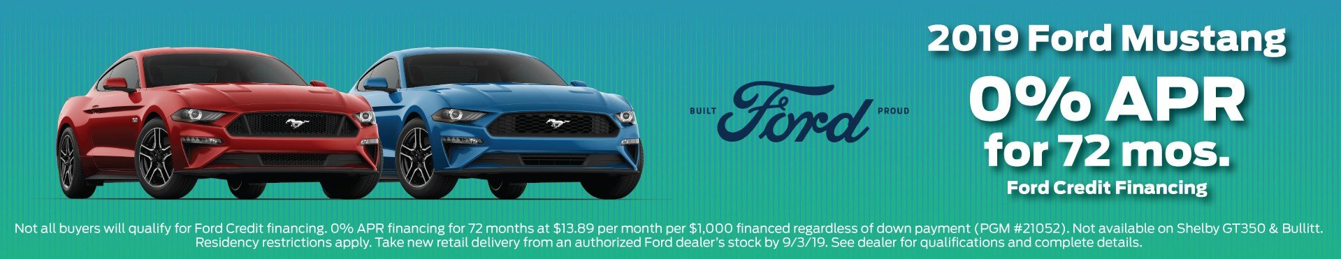2019 Mustang Incentive 9-3-2019