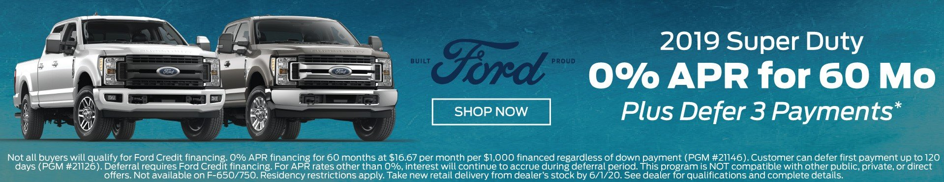 2019 Super Duty Incentive 6-1-20