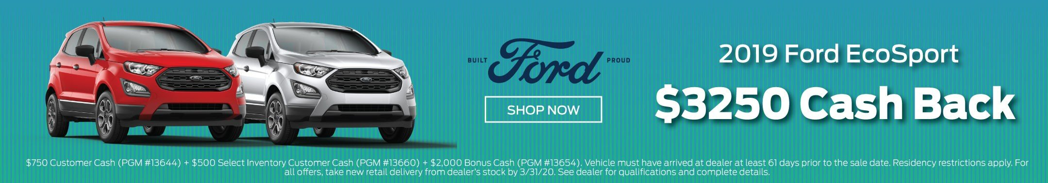 2019 Ford EcoSport Offer 3-2020