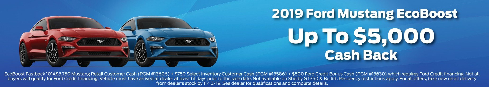 2019 Mustang Incentive 11-13-2019